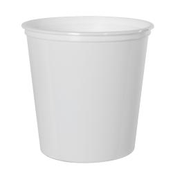 24 oz. White Polypropylene Z-Line Round Container
