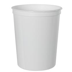 32 oz. White Polypropylene Z-Line Round Container