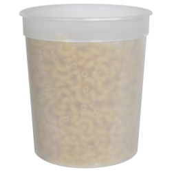 34 oz. Natural Polypropylene Z-Line Freezer Grade Round Container