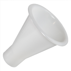 "5"" Top Diameter Natural HDPE Tamco® Large Powder Funnel with 2"" OD Spout"