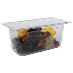 5.3 Quart Clear Polycarbonate Low Temperature 1/3 Food Pan (Cover Sold Separately)