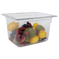 11 Quart Clear Polycarbonate Low Temperature 1/2 Food Pan (Cover Sold Separately)