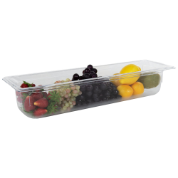 5.7 Quart Clear Polycarbonate Low Temperature 1/2 Long Food Pan (Cover Sold Separately)