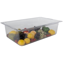 20.2 Quart Clear Polycarbonate Low Temperature Full Food Pan (Cover Sold Separately)