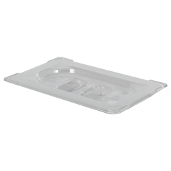 Clear 1/9 Food Pan Solid Cover with Molded Handle