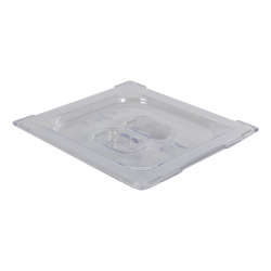 Clear 1/6 Food Pan Solid Cover with Molded Handle