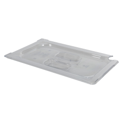 Clear 1/4 Food Pan Slot Cover for Spoon