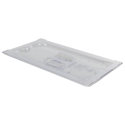 Clear 1/3 Food Pan Solid Cover with Molded Handle