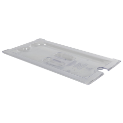 Clear 1/3 Food Pan Slot Cover for Spoon