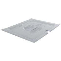 Clear 1/2 Food Pan Slot Cover for Spoon