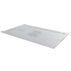 Clear Full Food Pan Solid Cover with Molded Handle