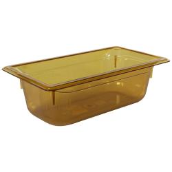 3.6 Quart Amber Polycarbonate High Temperature 1/3 Food Pan