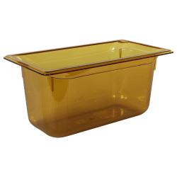 5.3 Quart Amber Polycarbonate High Temperature 1/3 Food Pan