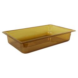 13.6 Quart Amber Polycarbonate High Temperature Full Food Pan