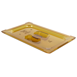 Amber 1/4 Food Pan Solid Cover with Molded Handle