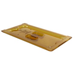 Amber 1/3 Food Pan Solid Cover with Molded Handle