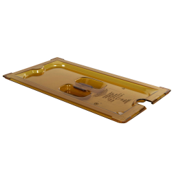 Amber 1/3 Food Pan Slot Cover for Spoon