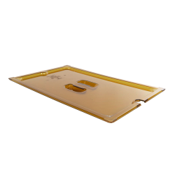 Amber Full Food Pan Solid Cover with Molded Handle