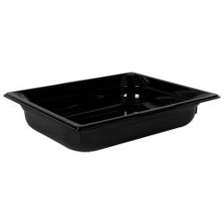 3.9 Quart Black Polycarbonate High Temperature 1/2 Food Pan