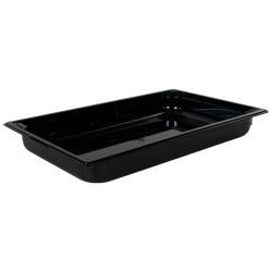 8.8 Quart Black Polycarbonate High Temperature Full Food Pan