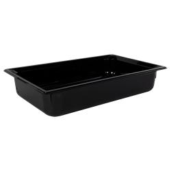 13.6 Quart Black Polycarbonate High Temperature Full Food Pan