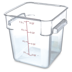8 Quart Polycarbonate Space-Saver Storage Stor-Plus™ Container (Lid Sold Separately)