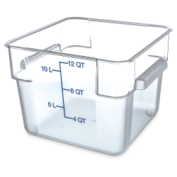 12 Quart Polycarbonate Space-Saver Storage Stor-Plus™ Container (Lid Sold Separately)