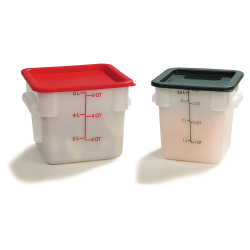 StorPlus™ Polyethylene Square Food Storage Containers
