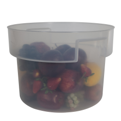 12 Quart Translucent Polypropylene Bain Marie with Handles (Lid Sold Separately)