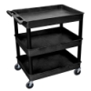 Black 3 Shelf (400 lbs. Capacity) Tub Cart