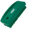 Green Nail Brush w/Stiff Bristles