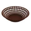 Brown Round Food Basket