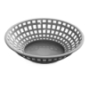 Gray Round Food Basket
