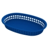 Blue Round End Rectangle Food Basket