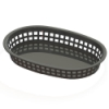 Black Round End Rectangle Food Basket