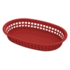 Red Round End Rectangle Food Basket