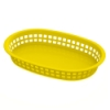 Yellow Round End Rectangle Food Basket