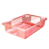 "3.5 Gallon Red StorPlus™ Color-Coded Food Storage Box 18"" x 12"" x 6"" (Lids sold separately)"