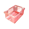 "5 Gallon Red StorPlus™ Color-Coded Food Storage Box 18"" x 12"" x 9"" (Lids sold separately)"