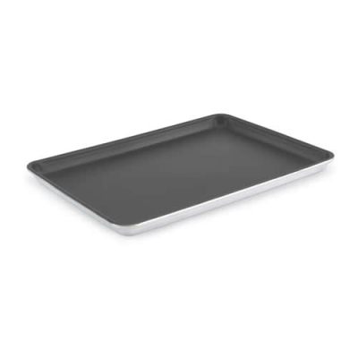 "18"" x 13"" X 1"" Half Size 18 gauge Non-Stick Wear-Ever® Heavy-Duty Aluminum Sheet Pan"