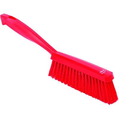 "Vikan® Red 14"" Edge Bench Brush with Medium Bristles"