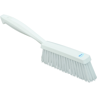 "White 14"" Edge Bench Brush w/Medium Bristles"