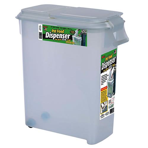 Bag-In Dispensers® 50 Quart Pet Food Dispenser with 2 Wheels & Scoop