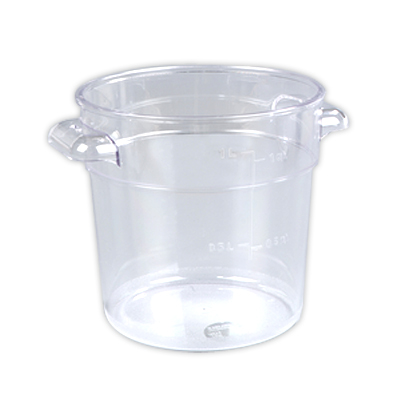 1 Quart Clear StorPlus™  Round Food Storage Container (Lid Sold Separately)