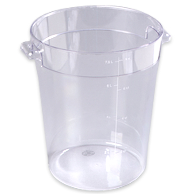 8 Quart Clear StorPlus™  Round Food Storage Container (Lid Sold Separately)