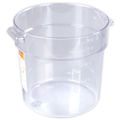22 Quart Clear StorPlus™ Round Food Storage Container (Lid Sold Separately)