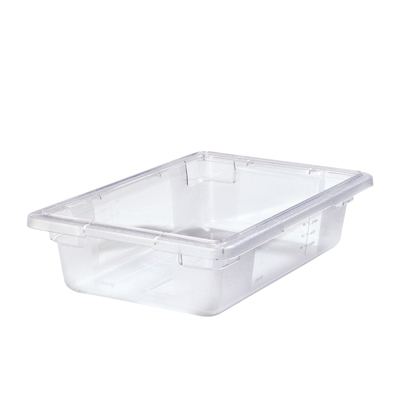 "2 Gallon Clear StorPlus™ Color-Coded Food Storage Box 18"" x 12"" x 3 1/2"" (Lids sold separately)"