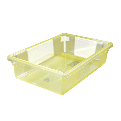 "3.5 Gallon Yellow StorPlus™ Color-Coded Food Storage Box 18"" x 12"" x 6"" (Lids sold separately)"