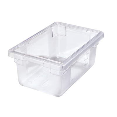 "5 Gallon Clear StorPlus™ Color-Coded Food Storage Box 18"" x 12"" x 9"" (Lids sold separately)"