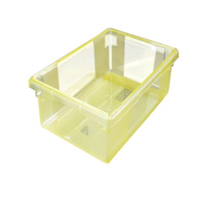 "5 Gallon Yellow StorPlus™ Color-Coded Food Storage Box 18"" x 12"" x 9"" (Lids sold separately)"